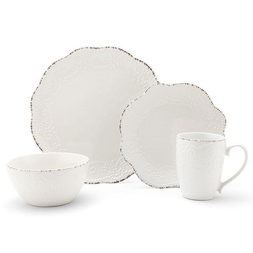 Pfaltzgraff Everly 16 Pc Dinnerware Set In 2020 Stoneware Dinnerware Sets Stoneware Dinnerware Dinnerware Sets
