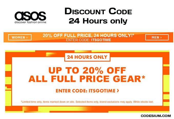 Limited Time Offer For Australians 20 Off On Everything On Asos With Discount Code Itsgotime Http Www Codesium Com Asos Discount Code Asos Discount Coding
