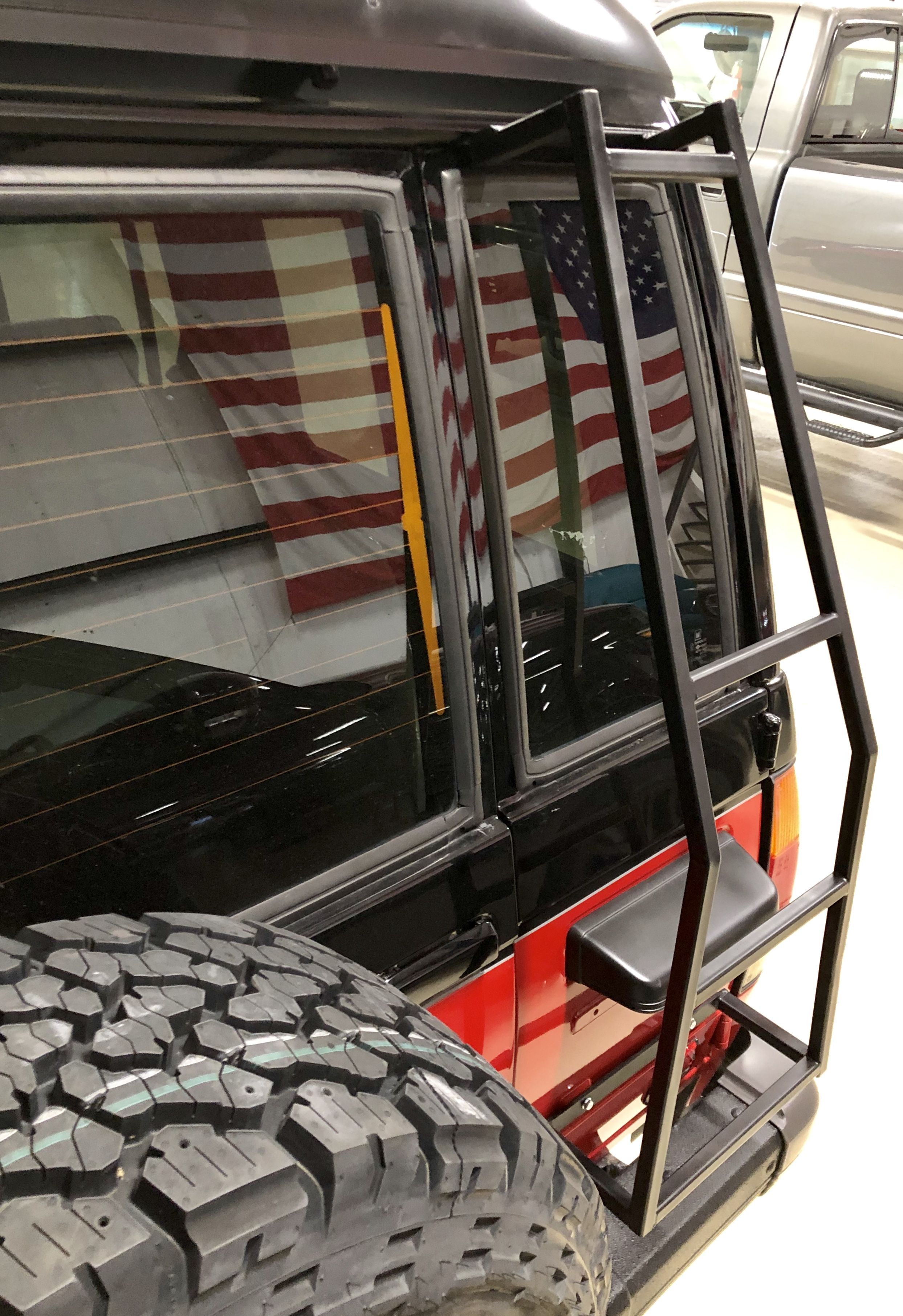 T Rex Now Has A Rear Door Ladder Roof Rack Ladder Trooper