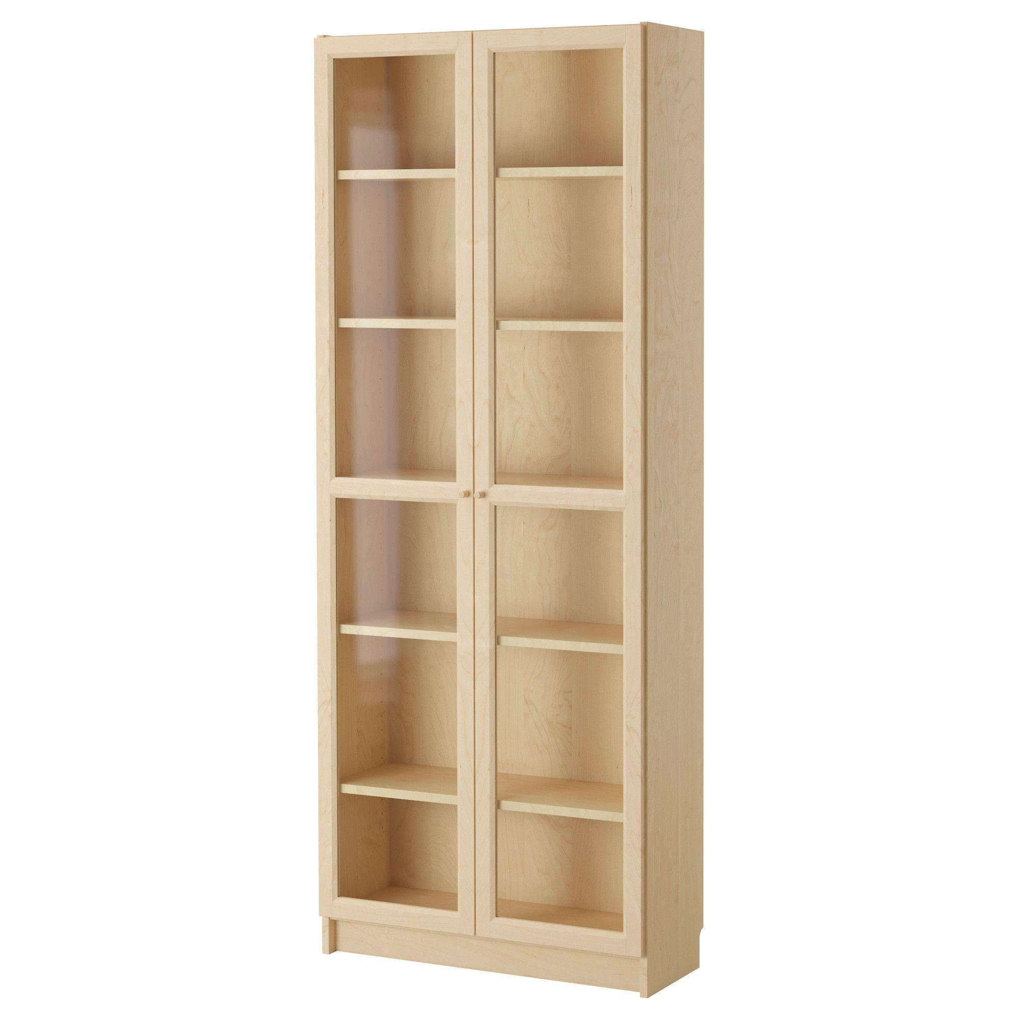Billy Oxberg Bookcase Birch Veneer Ikea Billy Birch And  # Tour De Rangement Dvd Ikea