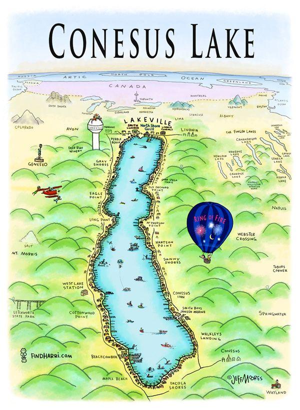 conesus lake fishing map Conesus Lake Ny Finger Lakes Ny Batavia New York Upstate Ny conesus lake fishing map