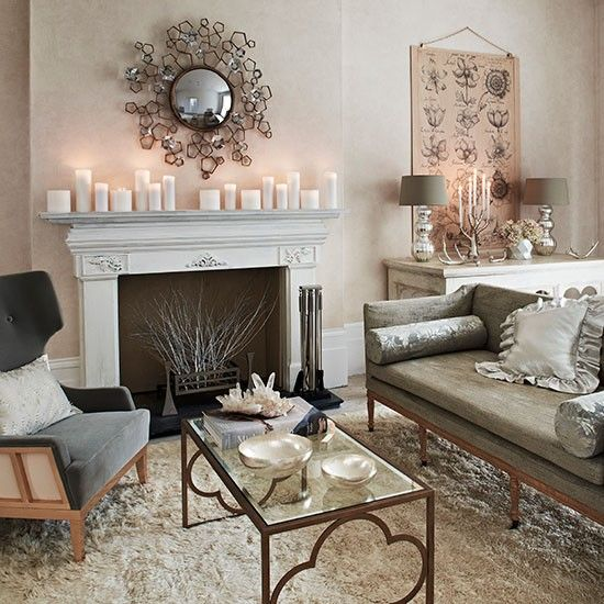 Soft Grey And Cream Living Room Decorating Homes Gardens Housetohome