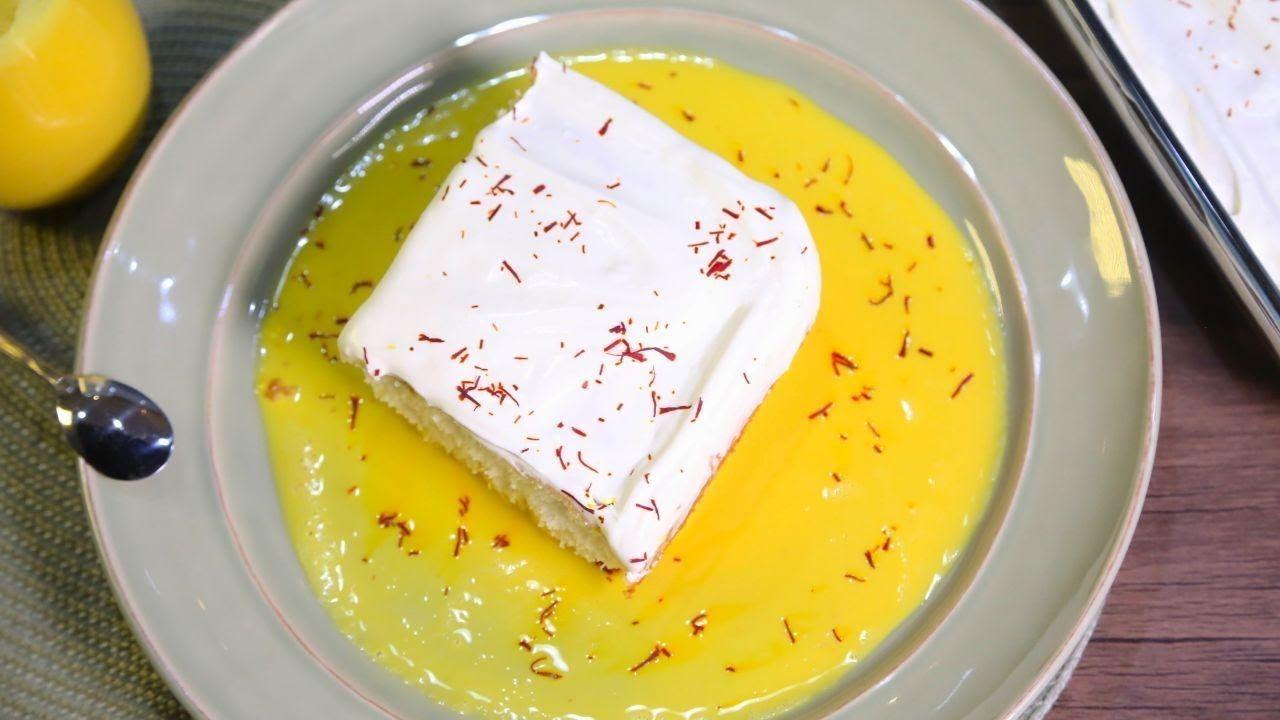 وجبات 15 ثانية كيكة الحليب بالزعفران 15smealsteam Saffron Milk Cake Youtube Milk Cake Sweet Cakes Food