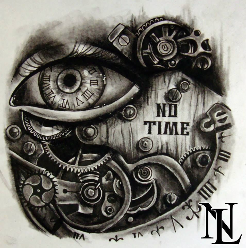 Steampunk Eye Clock Cogs Screws Script Old Metal Tattoo Tattoos Ink Steampunk Tattoo Steampunk Tattoo Design Clock Drawings