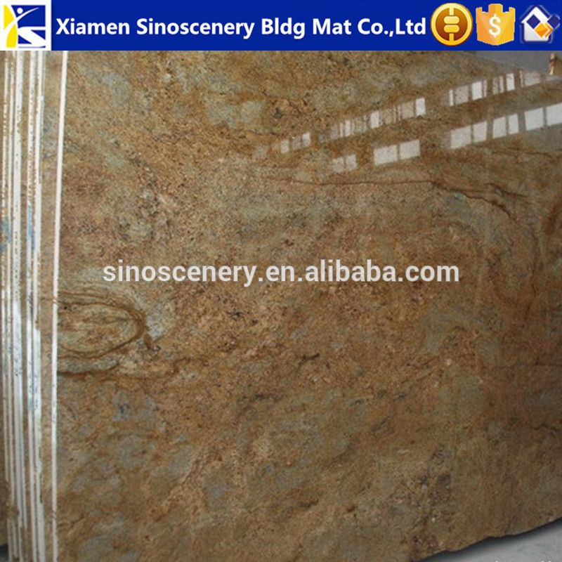 Polished Kashmir Gold Granite Floor Tiles 60x60 Price For Living Room