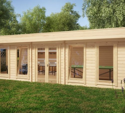 The Garden Table Tennis Room 30m2 / 70mm / 8 x 4 m Summer house