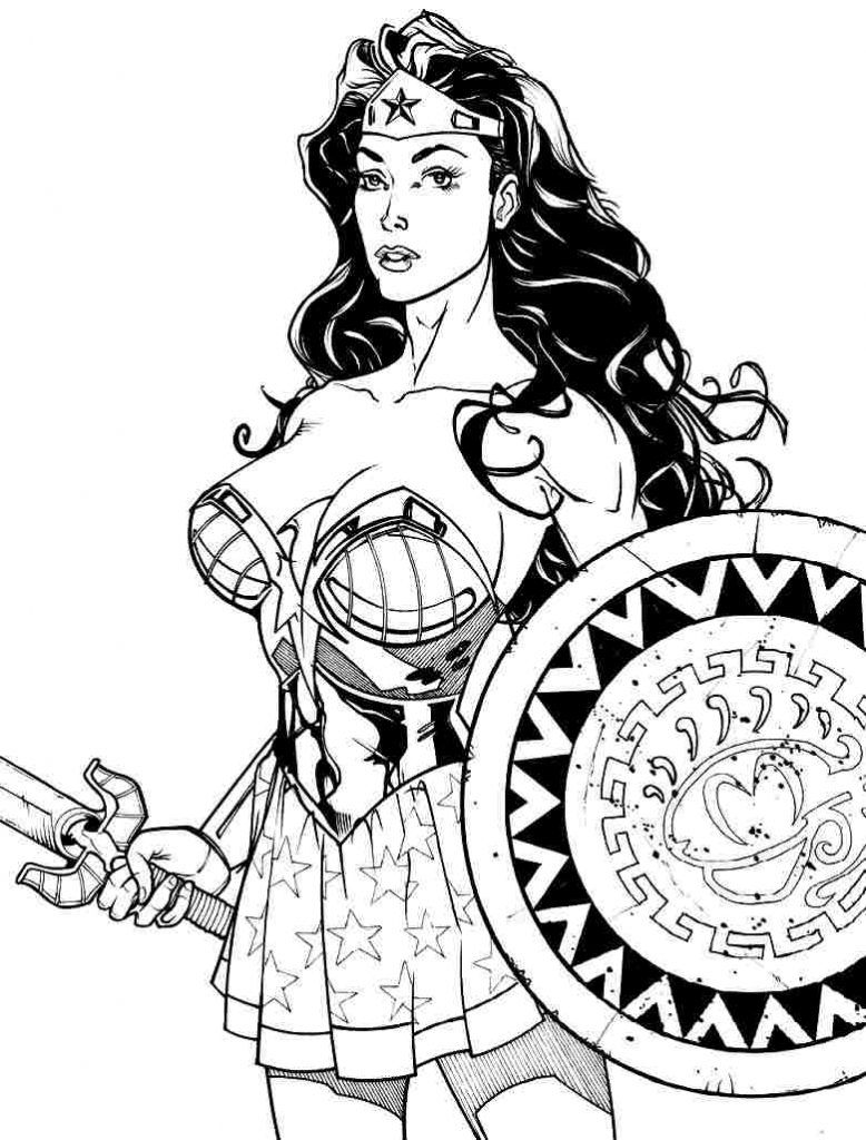 Download Coloring Pages Wonder Woman Coloring Pages Free Wonder