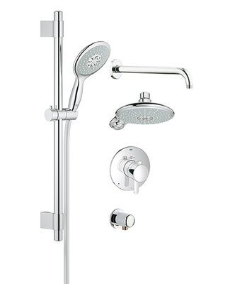 Grohe Grohflex Thermostatic Complete Shower System Shower Heads