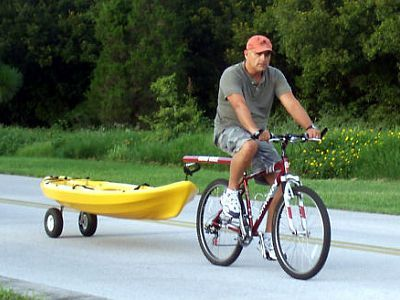 A Kayak On A Scupper Hole Cart Fishing Pinterest Rv And Rv