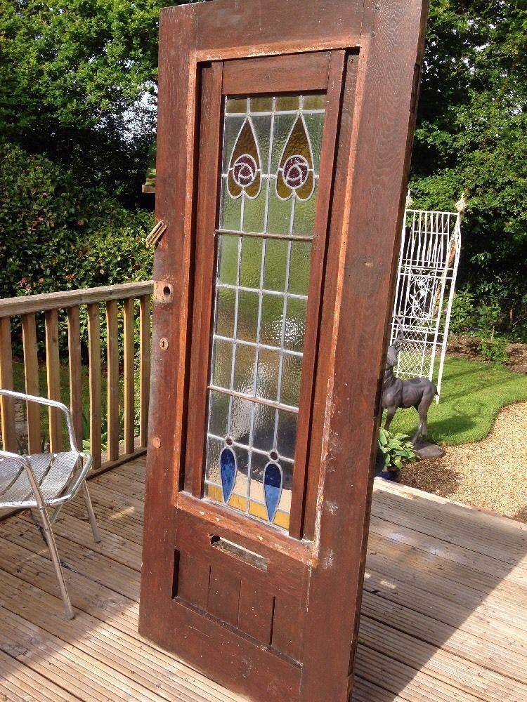 Astonishing antique wood door with stained glass ideas ideas house solid oak front door stained glass antique old period wood large planetlyrics Images