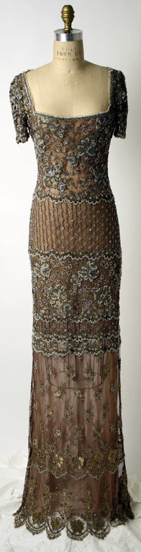 Dress, Evening  Badgley Mischka  (American, founded 1988)  Date: fall/winter 1997–98 Culture: American Medium: synthetic, silk, glass, plastic | Met Museum