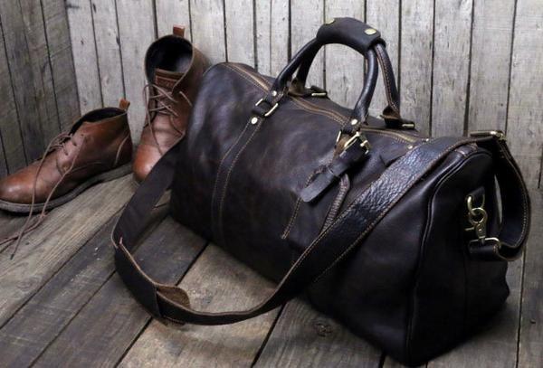 dab4abe051 Handmade leather men Travel Duffle Bag Laptop Weekender Bag Overnight Bag  vintage shoulder vintage bag
