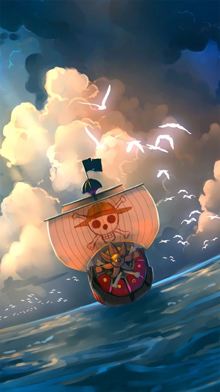Rodrigourt One Piece Fondo De Pantalla El Tousand Sunny Navegando Por La Infinidad Del Ancho Mar One Piece Wallpaper Iphone One Piece Anime One Piece Luffy