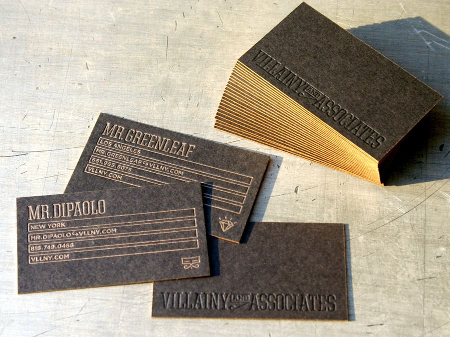 Business Card Ideas And Inspiration 11 Letterpress Business Card Design Embossed Business Cards Edge Painted Business Cards