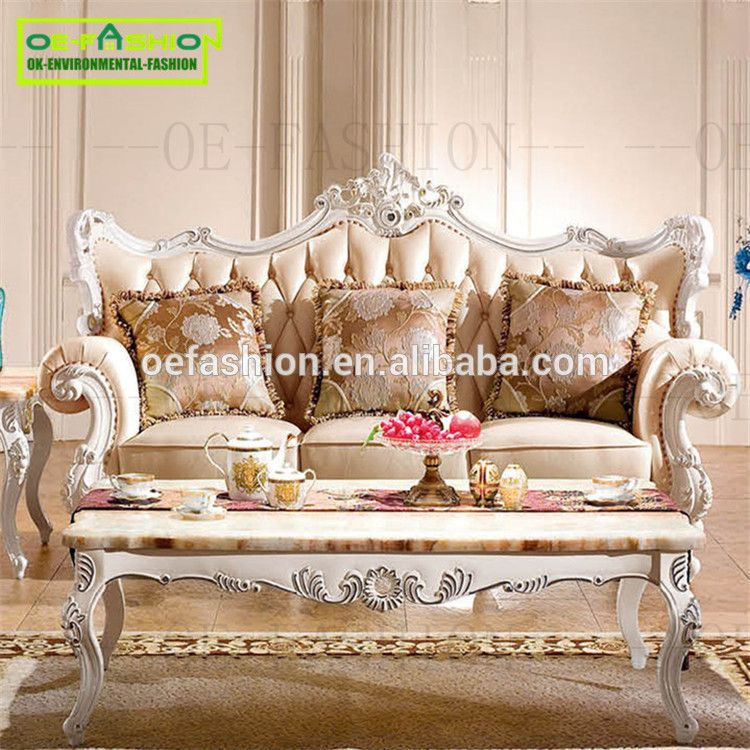 Oefashion French Style Leather Sofa Hand Carved Couch Sofa From Foshan  Furniture A12   Buy Foshan