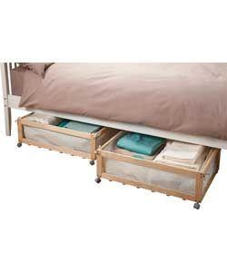 under bed storage furniture. buy set of 2 fabric u0026 wood underbed storage drawers on castors at argosco under bed furniture e