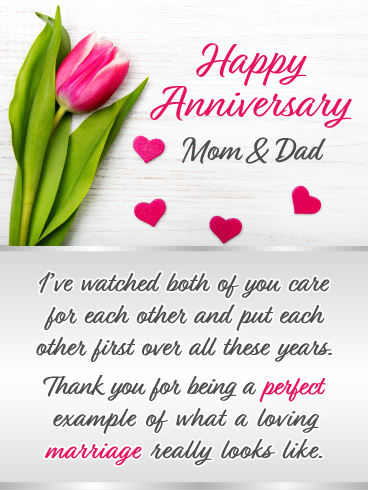A Perfect Marriage Happy Anniversary Card For Parents Birthday Greeting Cards By Davia Happy Anniversary Cards Anniversary Card For Parents Happy Marriage Anniversary