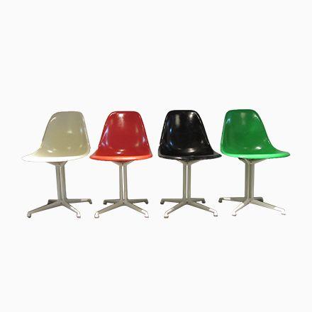 Multi-Colored Fiberglas Stühle von Charles \ Ray Eames für Herman - esszimmer 1950