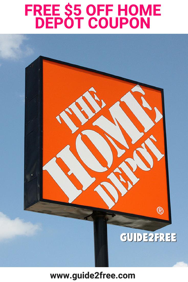 Free 5 Off Home Depot Coupon Home Depot Coupons Home Depot Depot