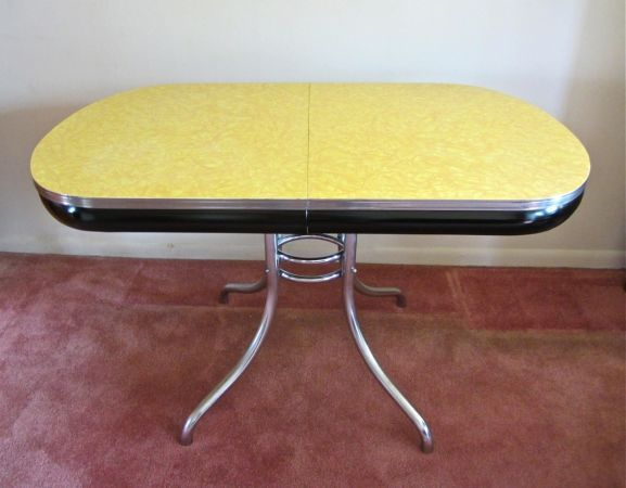 1950's Vintage Chrome Kitchen Table   Vintage table ...