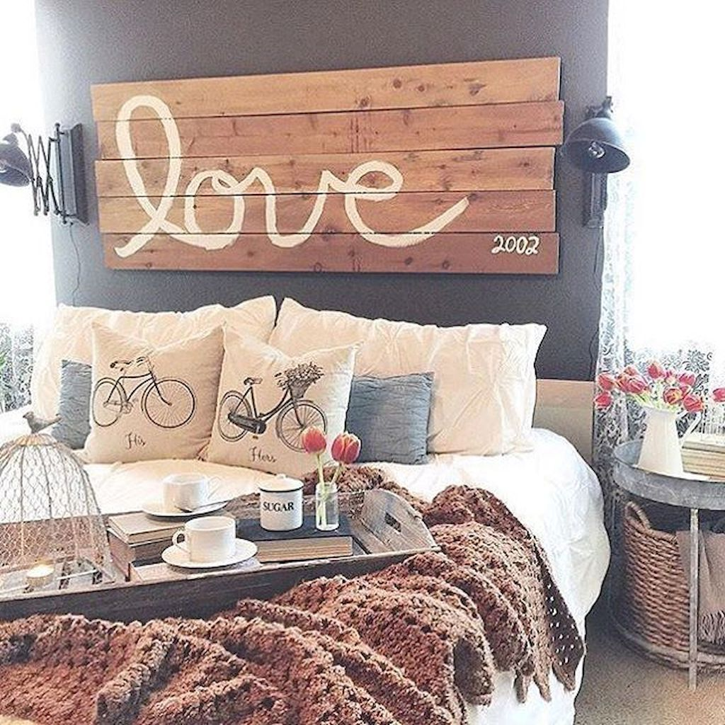 Interior home design bedroom ideas  romantic rustic farmhouse master bedroom decoration ideas