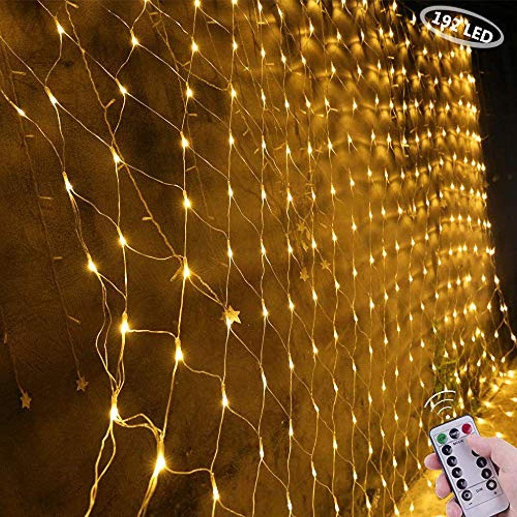 Lichterkette 12 Meter mit 120 LED-Lämpchen INDOOR /& OUTDOOR Warmweiß LED-Kette