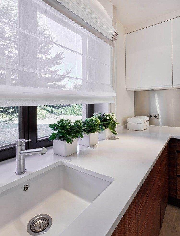 55 rideaux de cuisine et stores pour habiller les - Habiller une hotte de cuisine ...