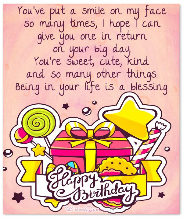 35 Cute Birthday Wishes and Adorable Birthday Images – Cute Birthday Card Messages