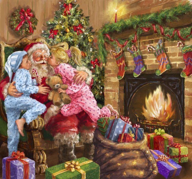 Душа гифы, открытки новый год семья