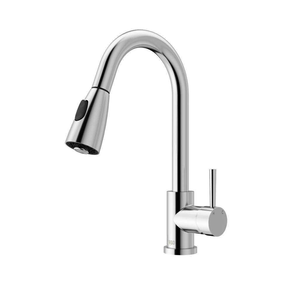 Vigo Weston Single Handle Pull Down Sprayer Kitchen Faucet In