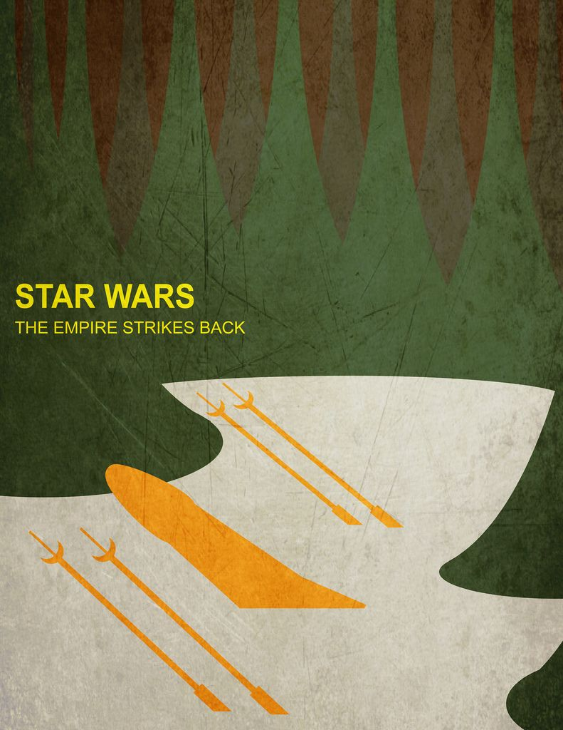 Star Wars Episode V The Empire Strikes Back 1980 Minimal Movie Poster By Joe Haddad Amuseme Empire Strike The Empire Strikes Back Minimal Movie Posters