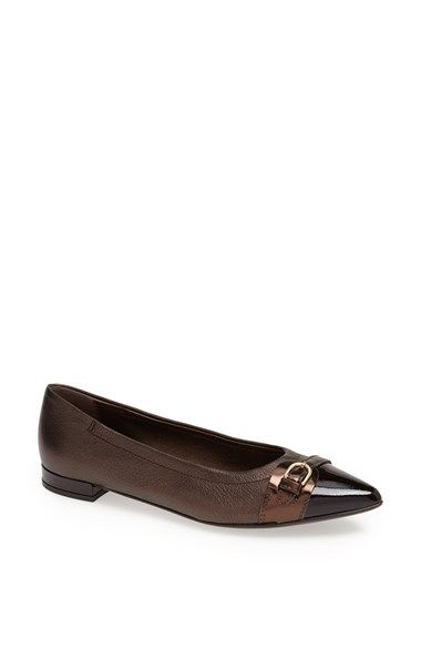 99858465d Free shipping and returns on Attilio Giusti Leombruni Pointy Toe Ballet Flat  at Nordstrom.com. A signature belt detail sets off the gracefully pointed,  ...