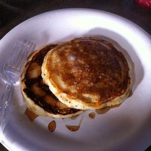 The BEST buttermilk pancakes EVER! :)