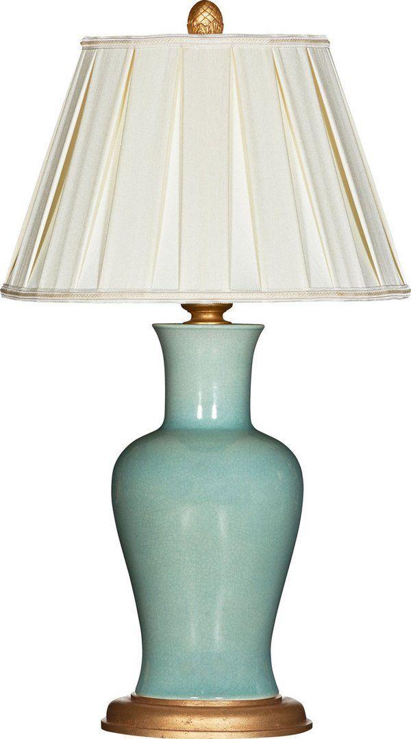 Amelie Verde Couture Table Lamp Ceramic Table Lamps Light Bulb