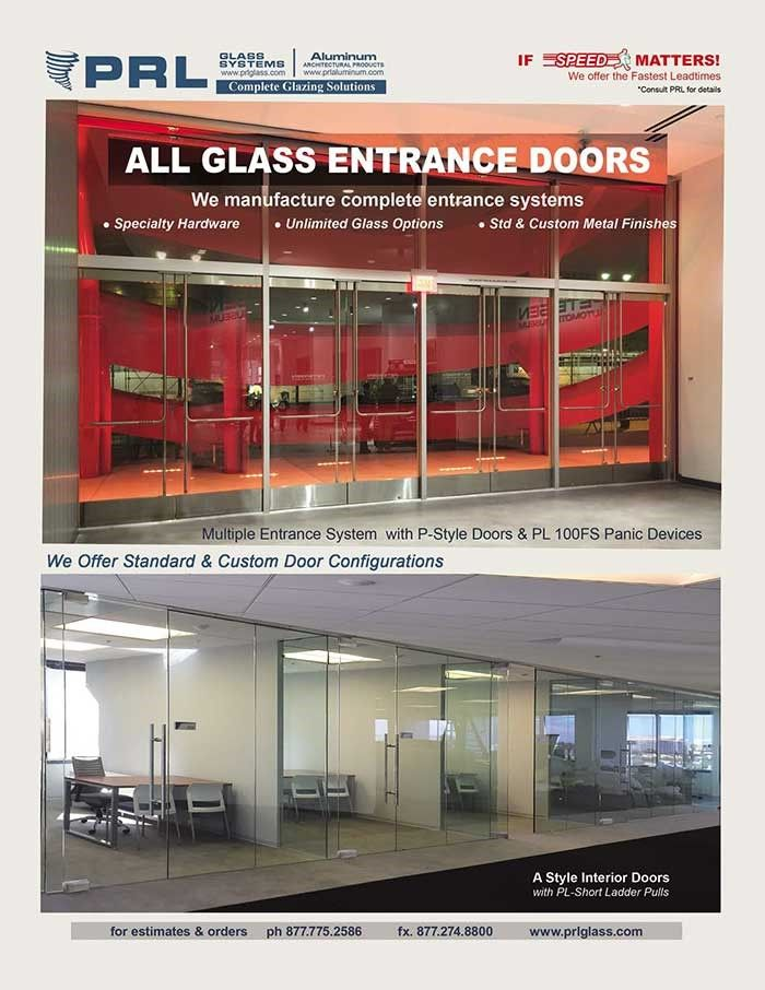 At Prl We Have Been Manufacturing All Glass Entrance Systems For