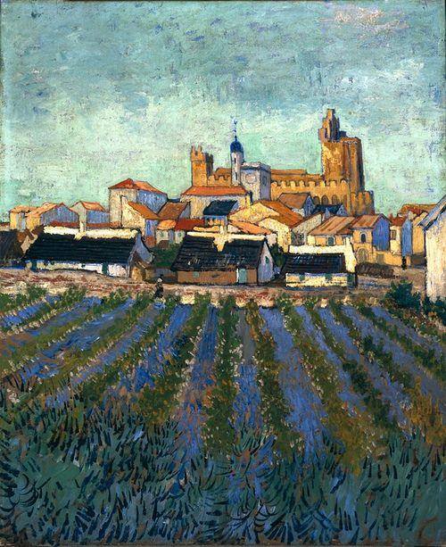 Vincent Van Gogh Vue De Saintes Maries De La Mer 1888 By