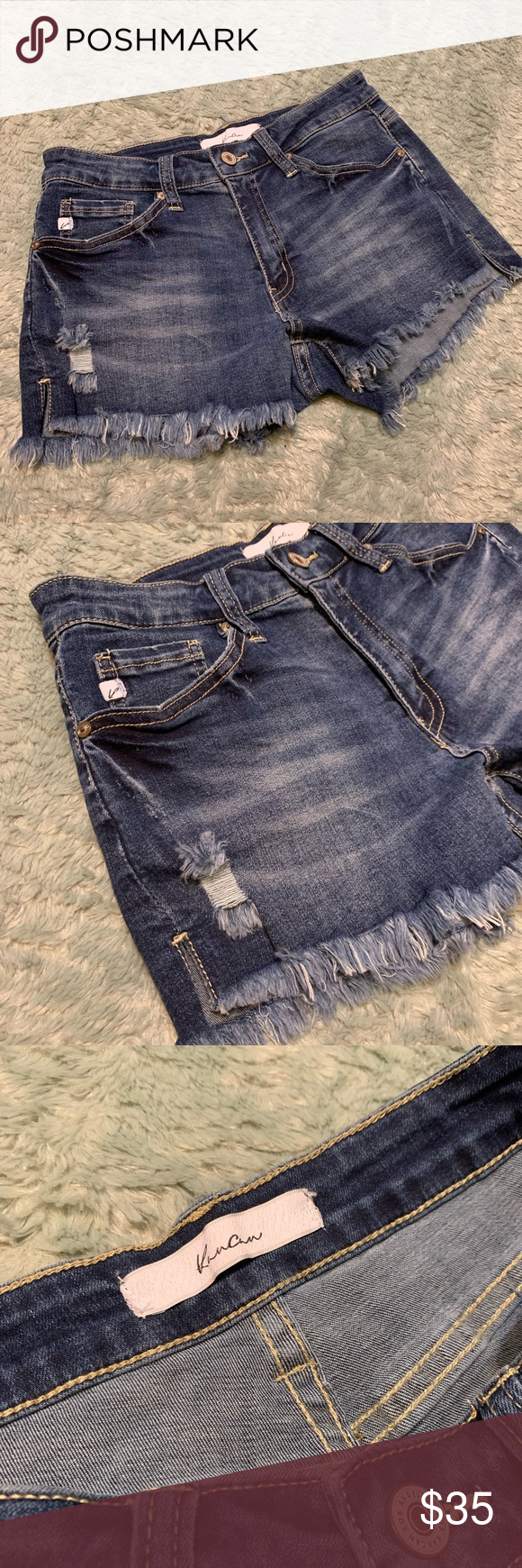 "KanCan Mid Wash Distressed Denim Cutoff Shorts KanCan Mid Wash Distressed Denim Cutoff Shorts  Good condition.   Waist: 14"" Length: 10"" KanCan Shorts Jean Shorts #denimcutoffshorts KanCan Mid Wash Distressed Denim Cutoff Shorts KanCan Mid Wash Distressed Denim Cutoff Shorts  Good condition.   Waist: 14"" Length: 10"" KanCan Shorts Jean Shorts #denimcutoffshorts"
