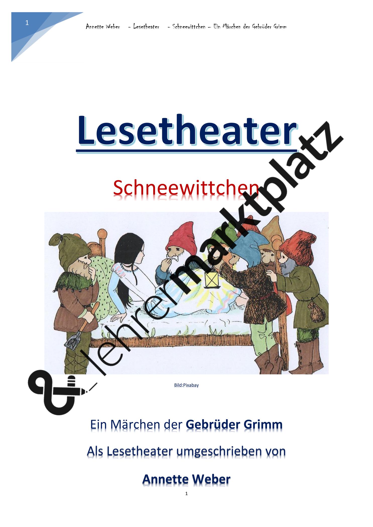 Schneewittchen Theaterstück Text