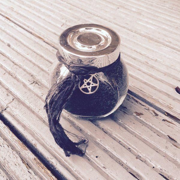 Witches Black Salt protection Banishing Samhain ritual salt witches salt