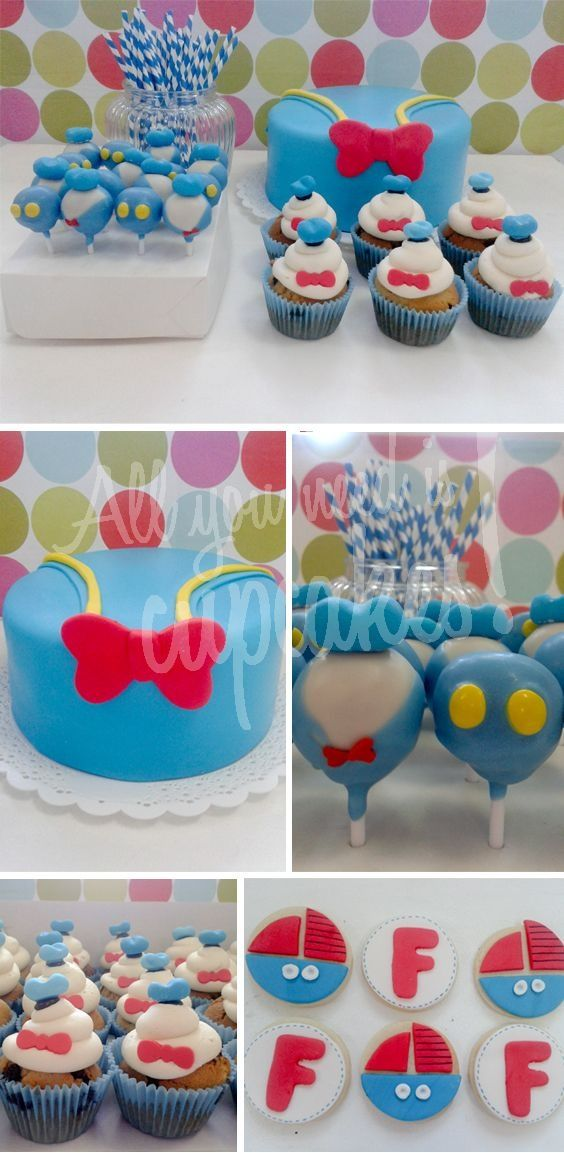 All You Need Is Cupcakes Pato Donald Backen Torten Backen