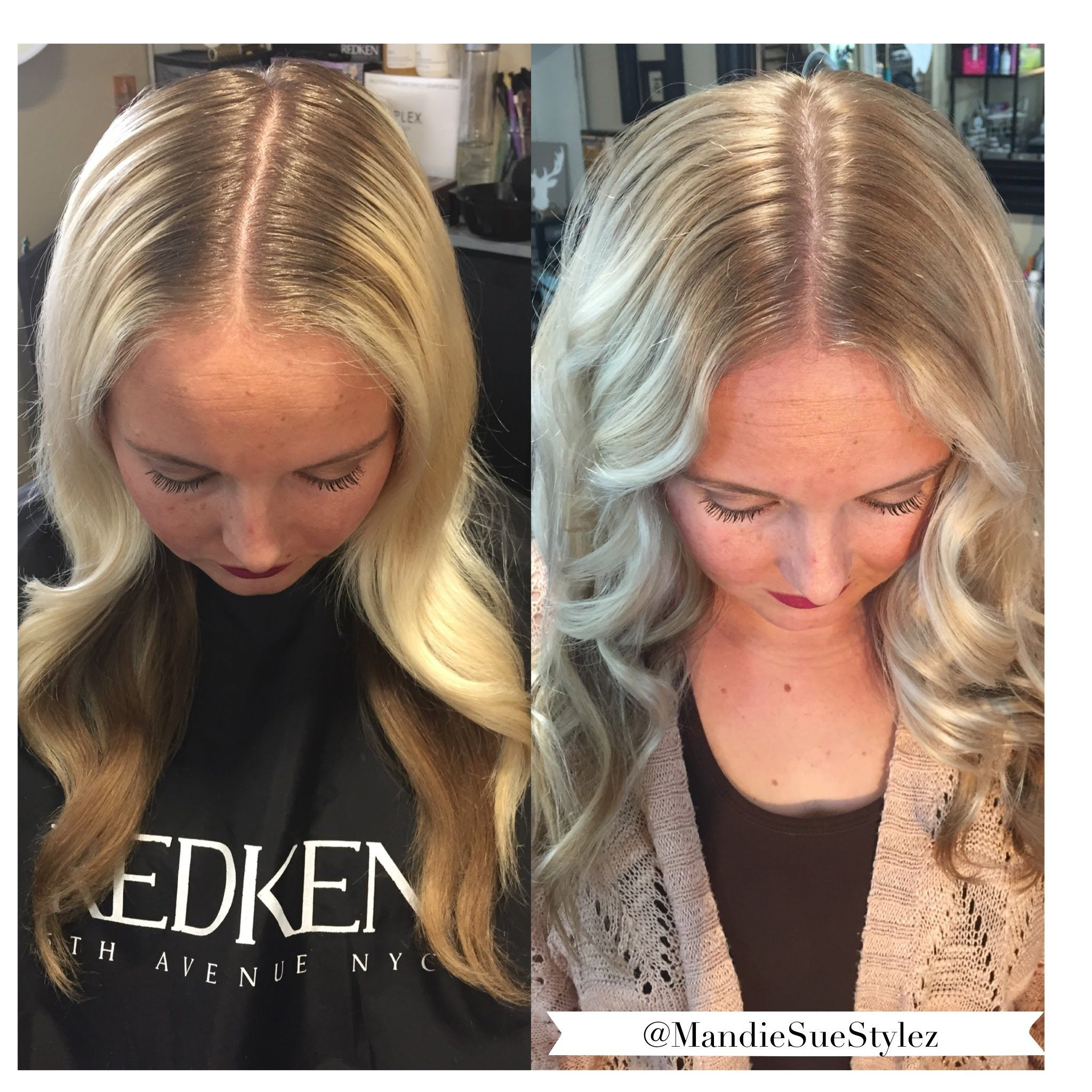 Smudge Coloring Tutorial For The Pros Redken Colors Blonde Hair With Roots Roots Hair Bleach Blonde Hair