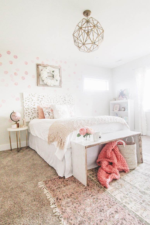 Girls Bedroom Pink Polka Dot Decals Kids Bedroom Bedroom Decor