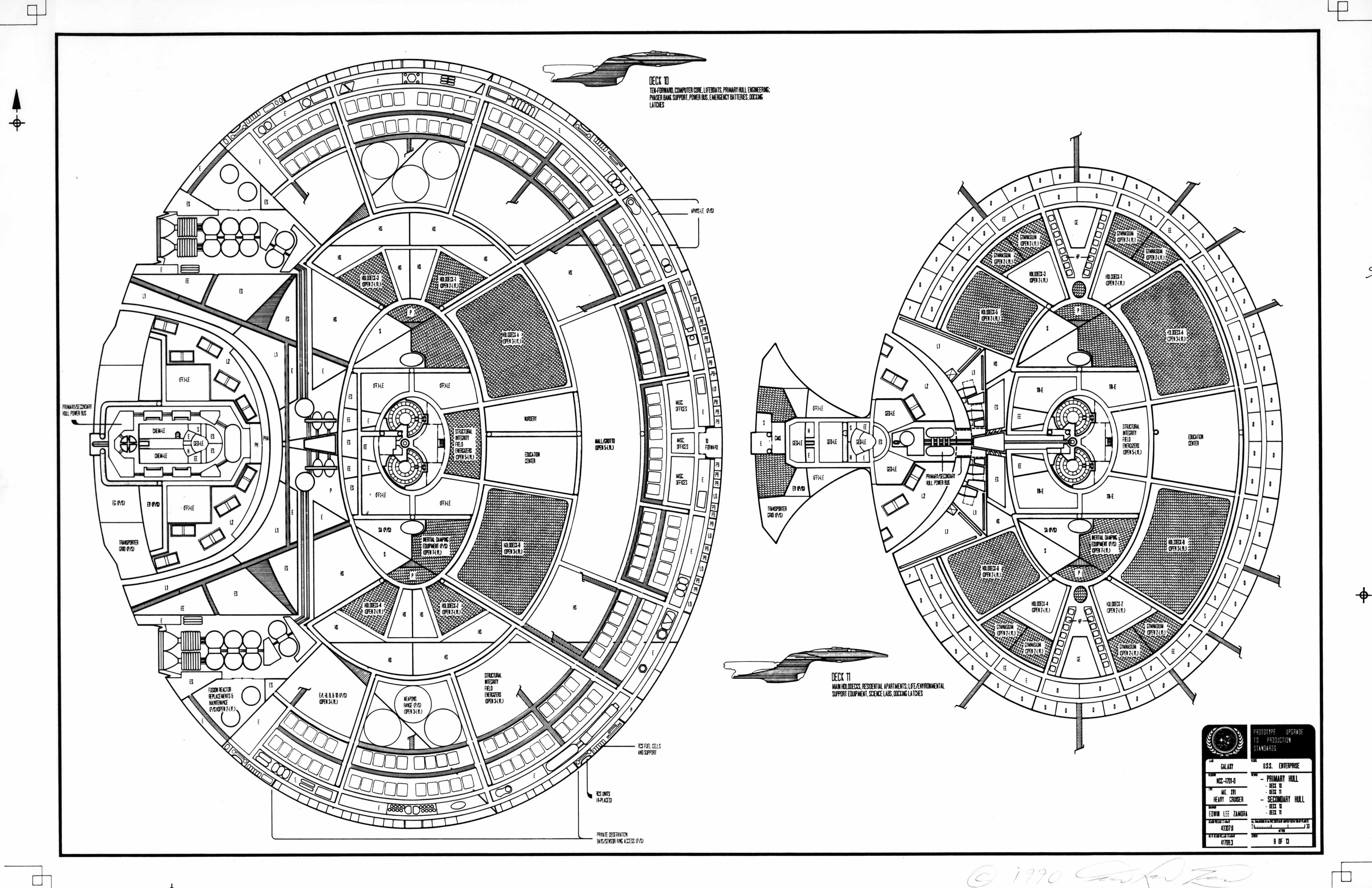 Deck Schematic Of U S S Enterprise Ncc D