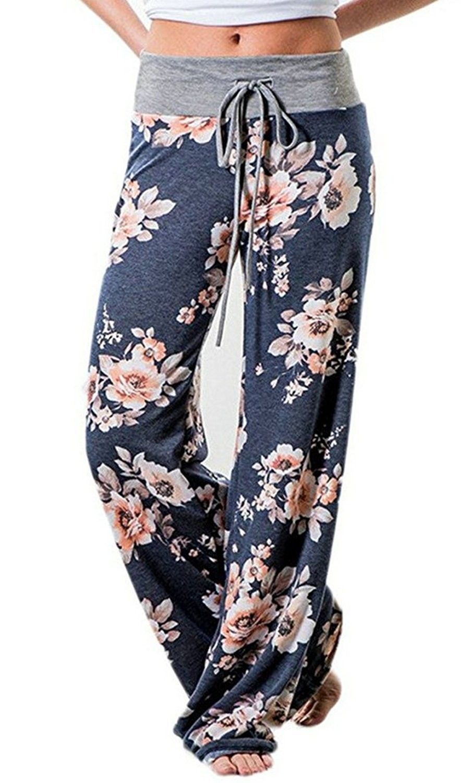 1d5f217ddc23 Women s Pajamas Comfy Pajama Lounge Pants Floral Print Drawstring ...