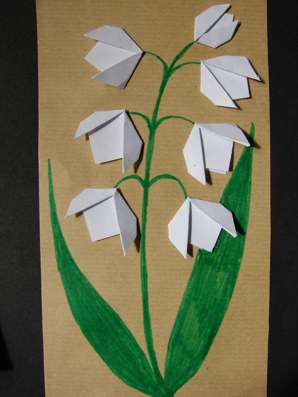 Brin De Muguet Activité 1er Mai Pinterest Origami Craft And