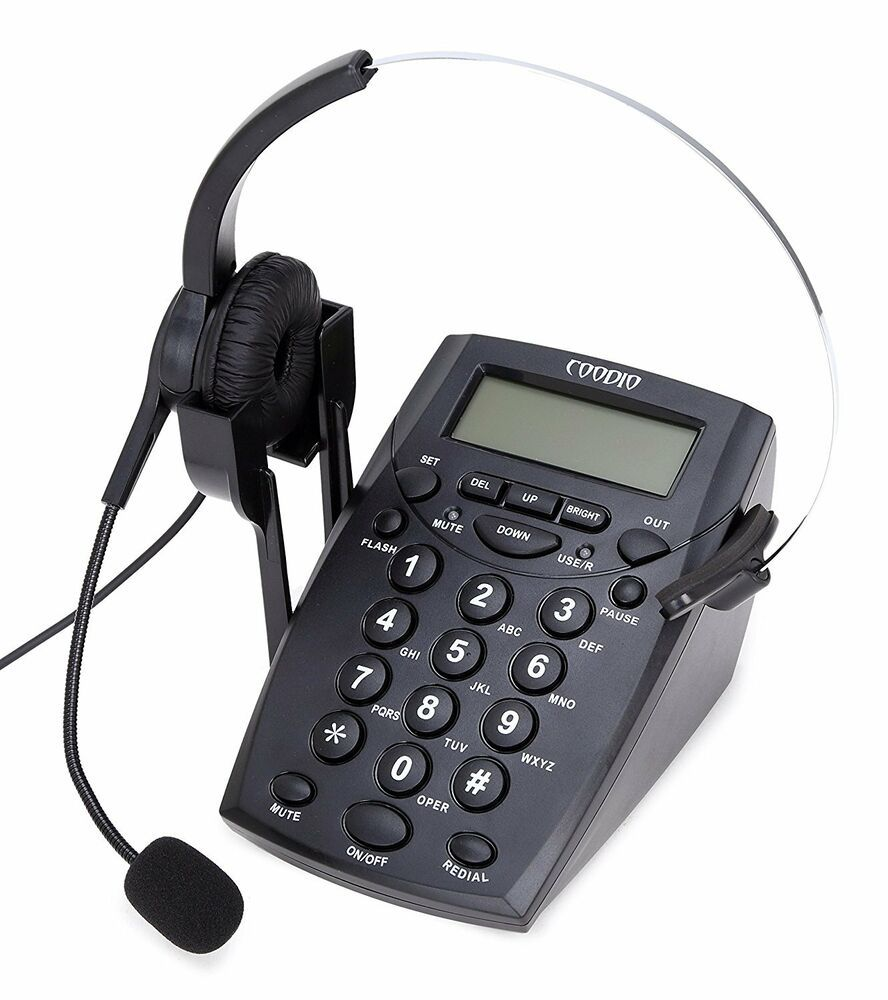 Details About Phone Fixed Coodio Call Center Phone With Headphones And Cable Of Recording In 2020 Corded Phone Phone Desk Phone