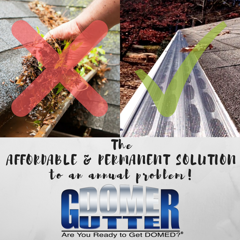 Gutterdome Provides A Permanent Solution To An Annual Problem Plus We Make It Affordable For Homeowners See How To Install Gutters Gutter Protection Gutter