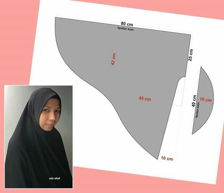 Pin Oleh Lourdes Rodriguez Di Pola Kerudung Pola Jahitan Pola Kursus Hijab