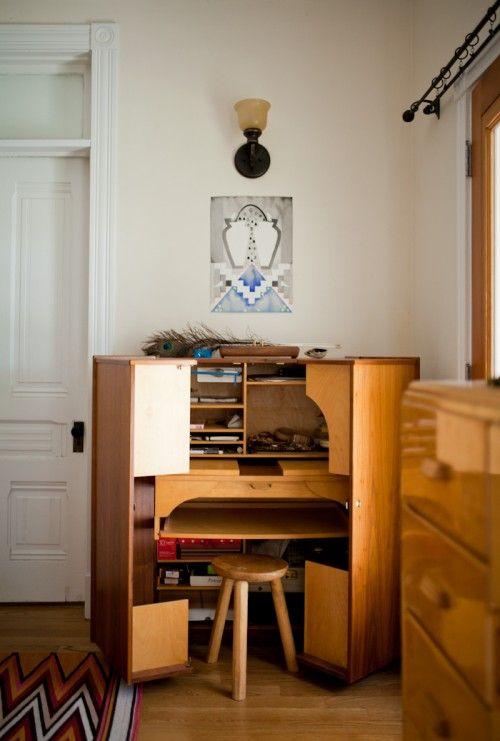 Two Artists Santa Barbara Carriage House Home Decor Home Beautiful Desk