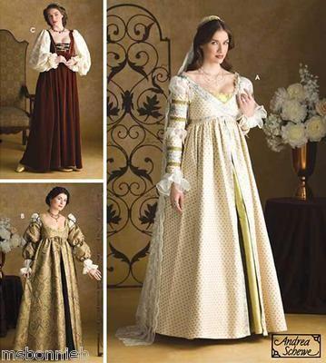 dress - Renaissance italian dress patterns video